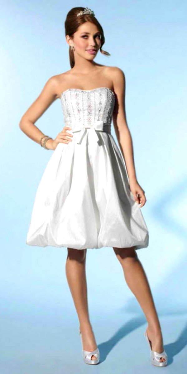 a-line beaded taffeta knee-length wedding dress sexy womens bridal gowns