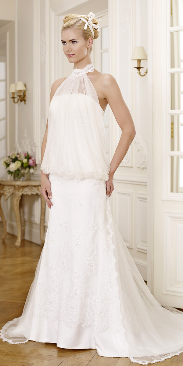 A Line Lace Tulle Maternity Wedding Dress