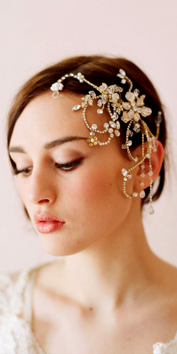 bridal rhinestone floral headpiece sexy womens accessories