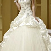 crystal beading bustier wedding dress sexy women's bridal gowns
