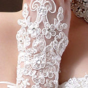 fingerless rhinestone lace bridal gloves sexy womens bridal gowns