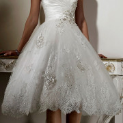 knee length tulle wedding dress sexy womens bridal gowns