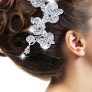 orchid flower hair comb tiara with rhinestones and crystals sexy womens bridal accessories