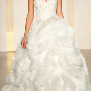 organza wedding dress with voluminous layered skirt sexy womens bridal gowns