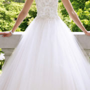 tulle organza princess applique a-line wedding dress sexy womens bridal gowns