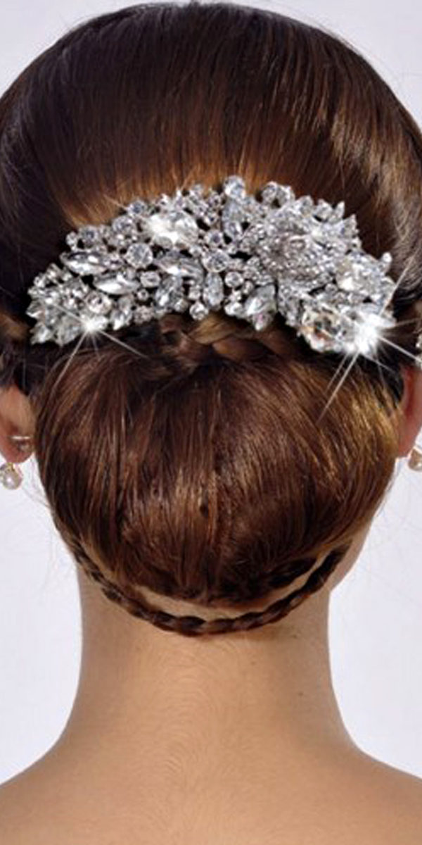 vintage flower and crystal head piece sexy womens bridal accessories