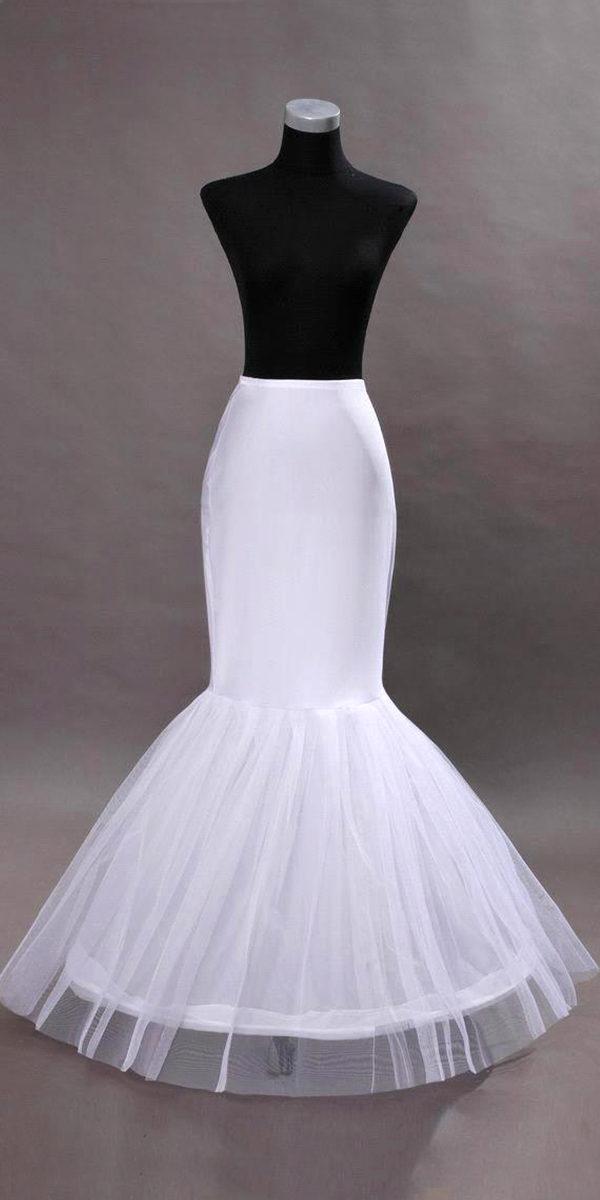 1 hoop mermaid crinoline petticoat sexy womens bridal accessories