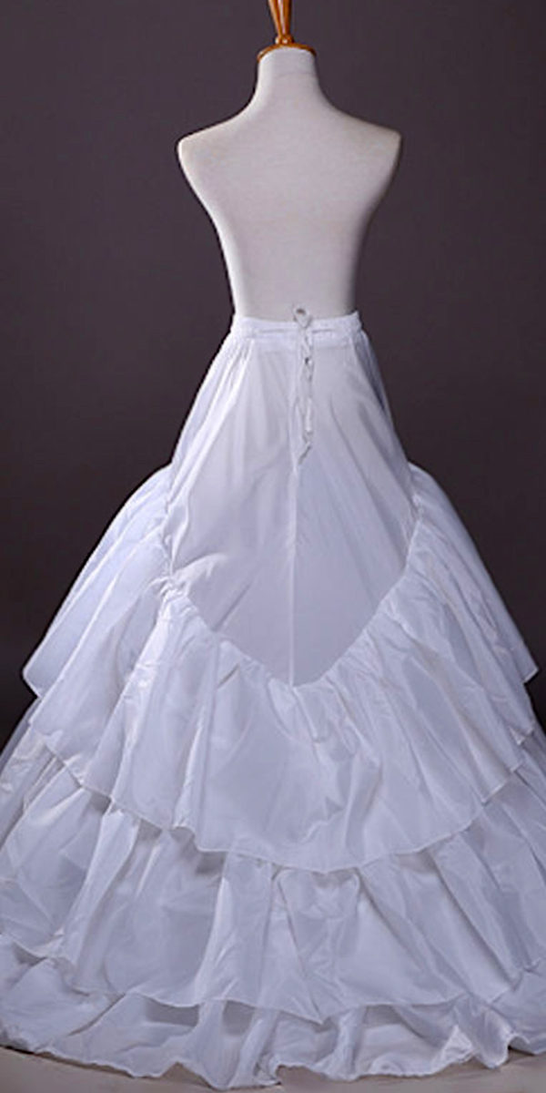 3 hoop a-line crinoline petticoat sexy womens bridal accessories