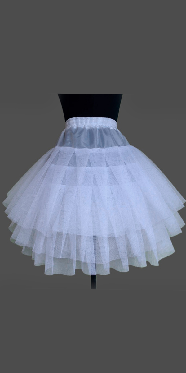 3 layer ruffled a-line petticoat crinoline slip sexy womens bridal accessories