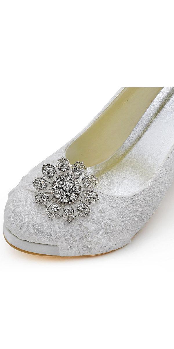 "4"" high heelsatin bridal shoe with rhinestones sexy womens accessories"