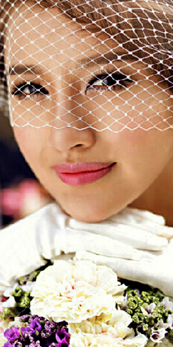 birdcage bridal veil with mesh head flower sexy womens wedding accesories