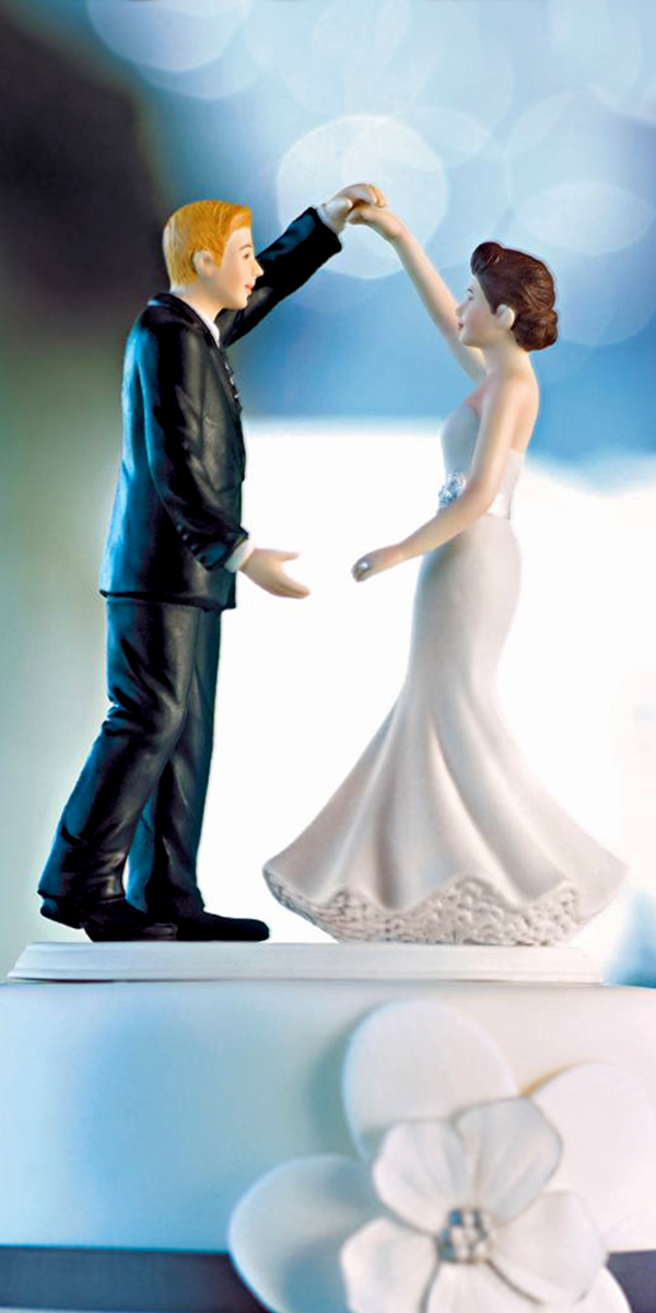 dancing the night away wedding cake topper