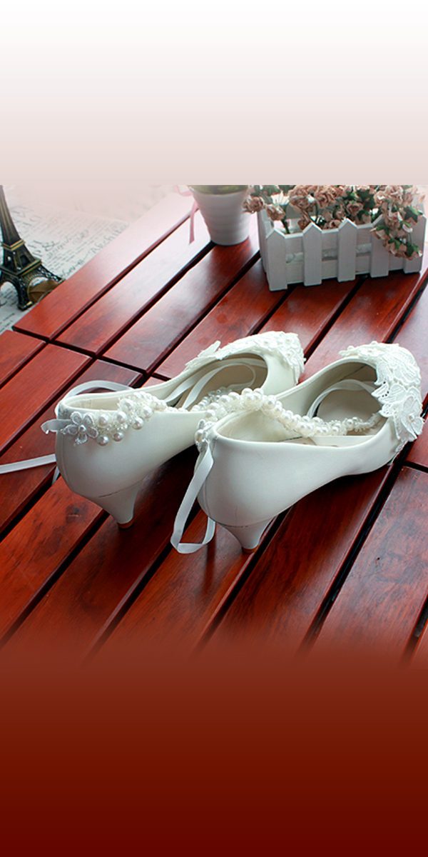 floral lace pearl bridal shoes with ribbon strap sexy womens bridal shoes