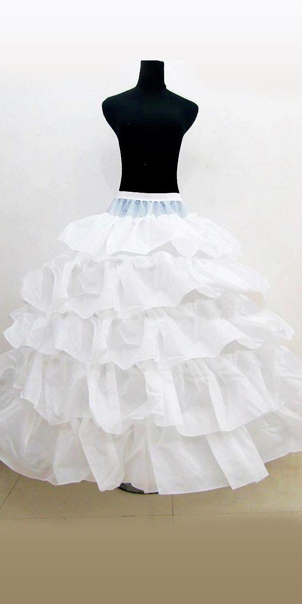 ruffled crinoline petticoat with elastic band sexy womens bridal accessories