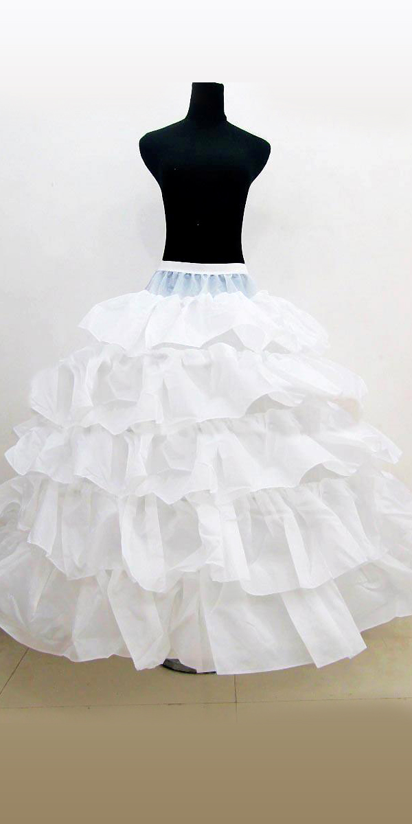 ruffled crinoline petticoat with elastic band sexy womens bridal accessories