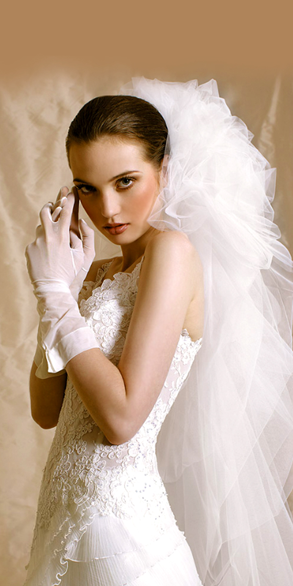 soft tulle bridal veil sexy womens wedding accessories