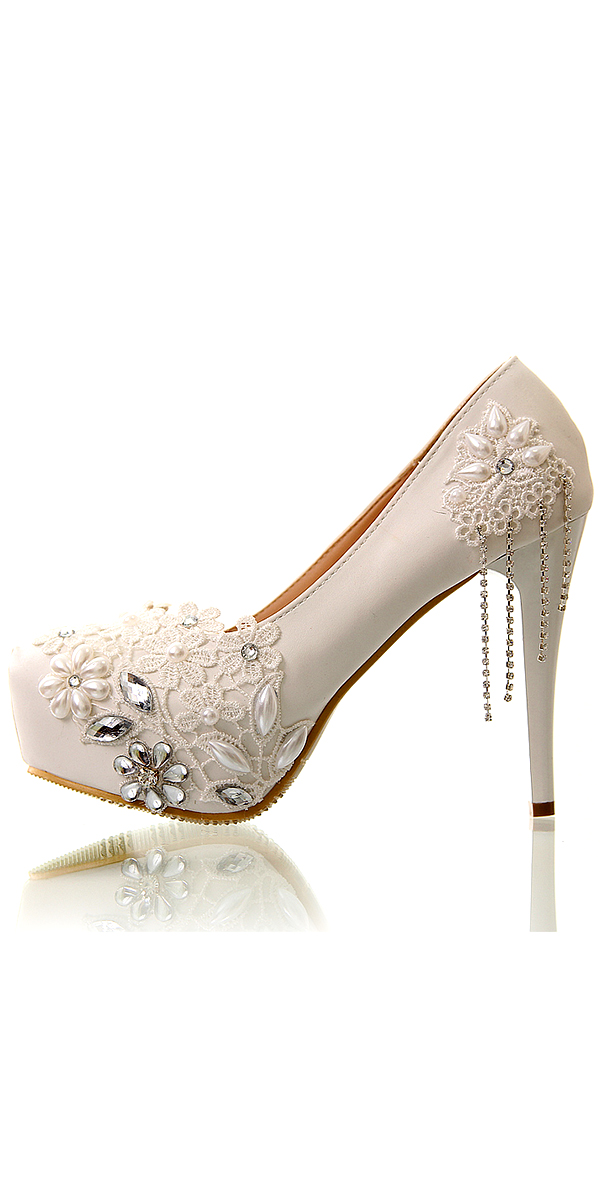 white crystal tassel high heel bridal shoe sexy womens wedding accessories