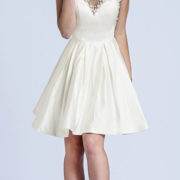satin knee-length cocktail dress with pearls and rhinestone beading sexy womens lingerie