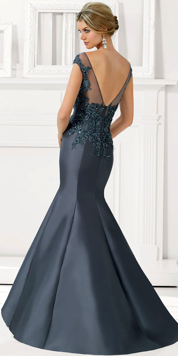 satin with beaded lace applique evening gown sexy womens lingerie