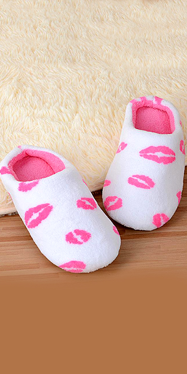 white non-slip lip slippers sexy womens accessories