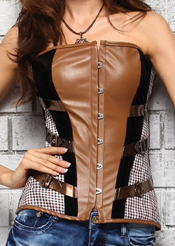 sexy women's corsets leather