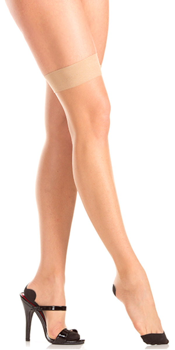 nude seamed thigh highs sexy girls hosiery