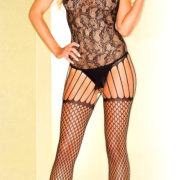 black abstract pattern bodystocking sexy women's bodysuits
