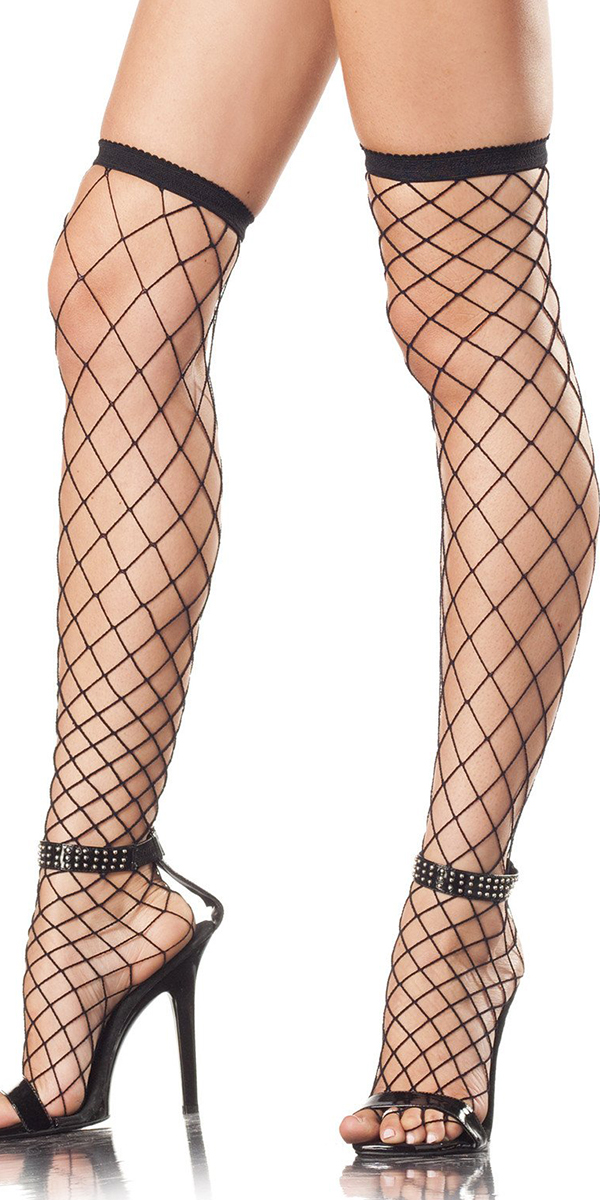 spandex fishnet thigh highs sexy women's stockings