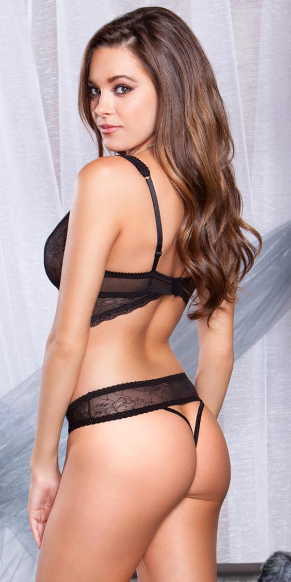 black floral jacquard mesh cut-out teddy sexy women's lingerie