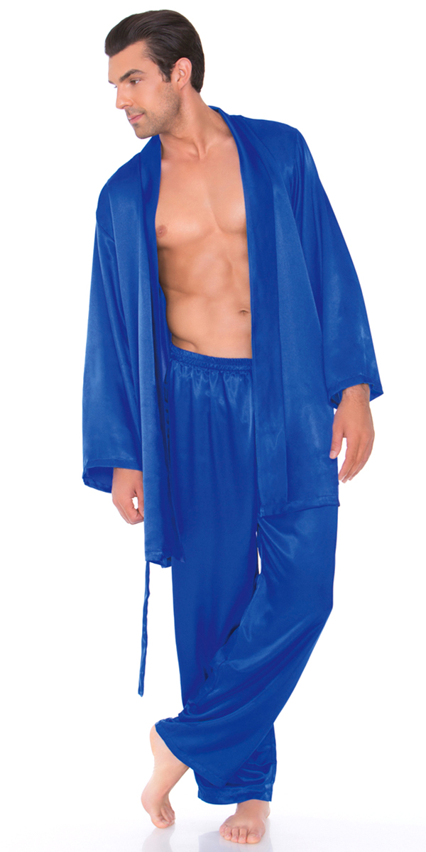 6e2bd83135ac satin robe with matching sash mens s sexy loungewear