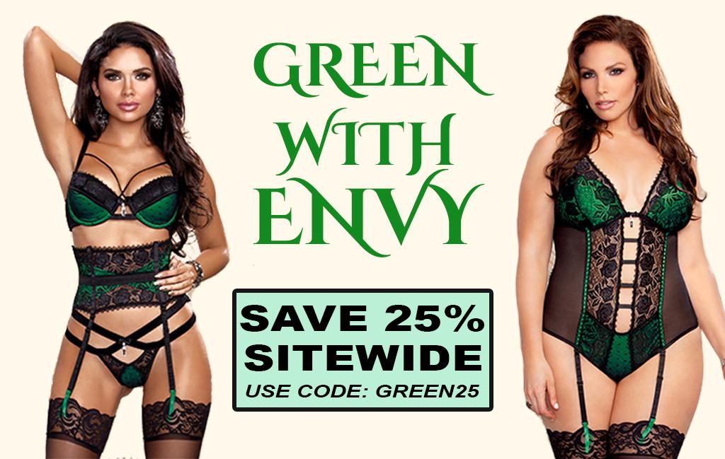 green sliding banner