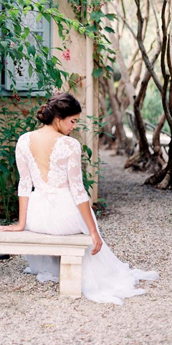 a-line chiffon beach country wedding dress sexy women's bridal gowns