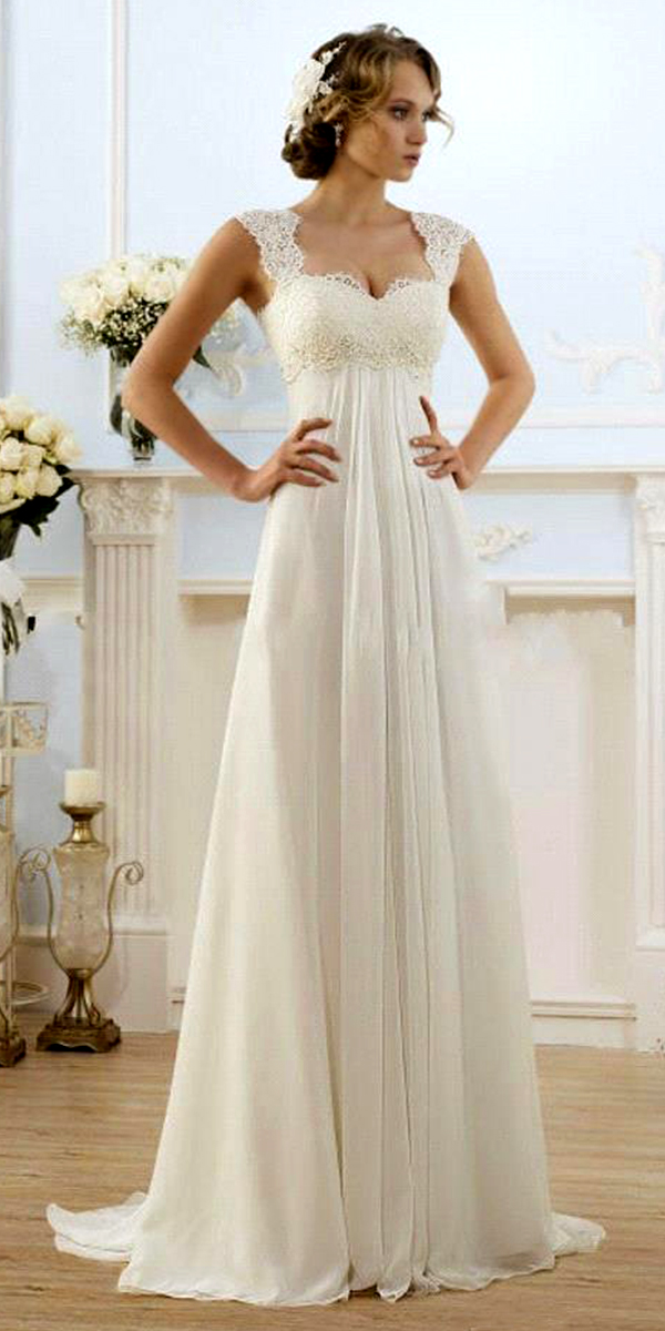 beach empire maternity wedding dress sexy women's bridal gowns
