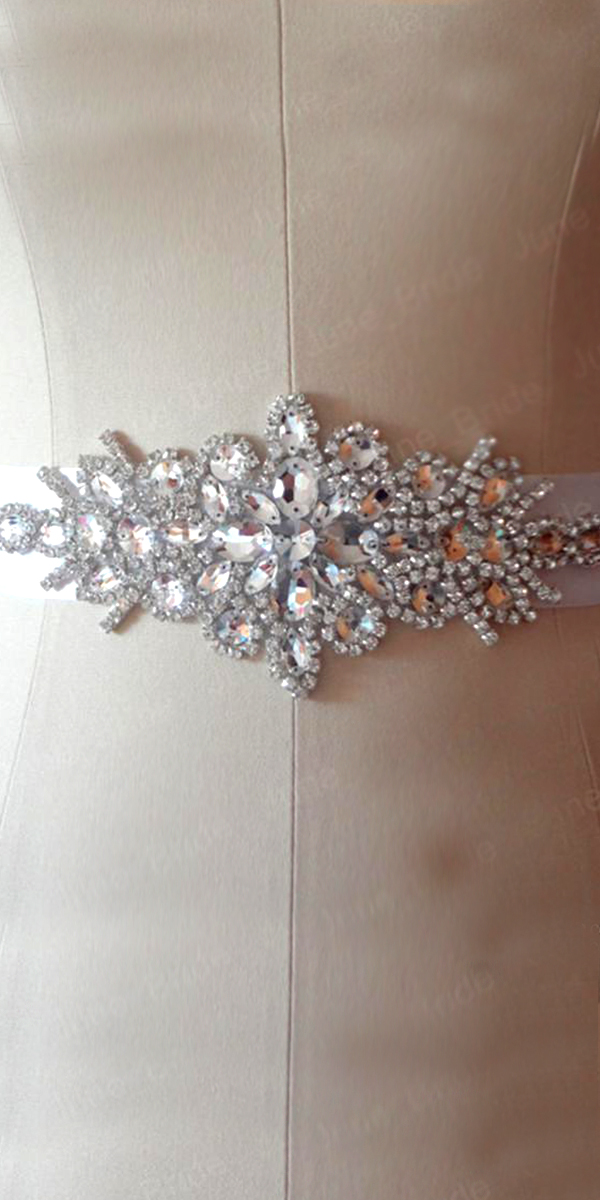 beaded rhinestone crystal wedding belt sexy women''s bridal accessories