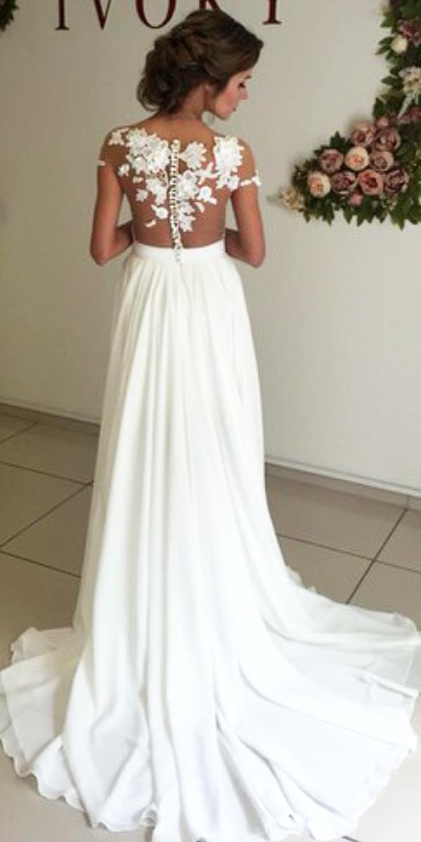 chiffon beach wedding dress sexy women s bridal gowns f909b30be2