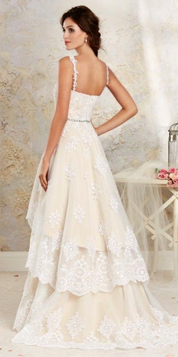 country style two-piece detachable wedding dress sexy women's bridal gowns