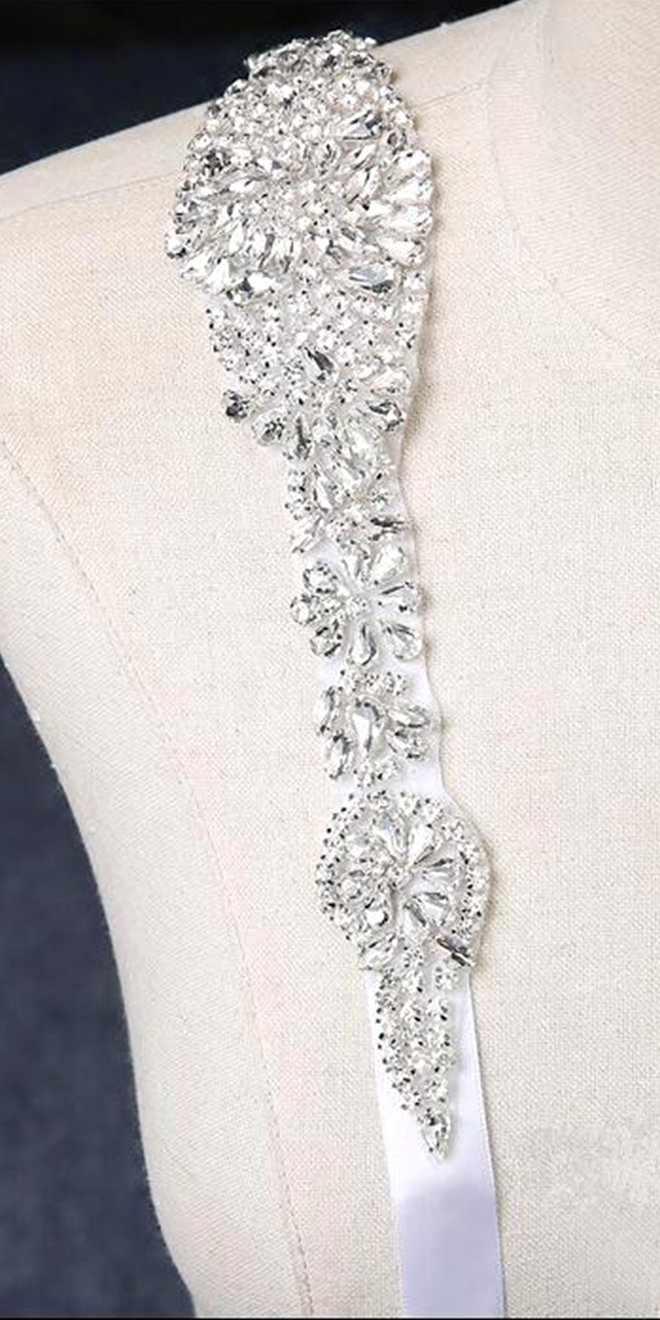 crystal beaded wedding sash sexy women's bridal accessories