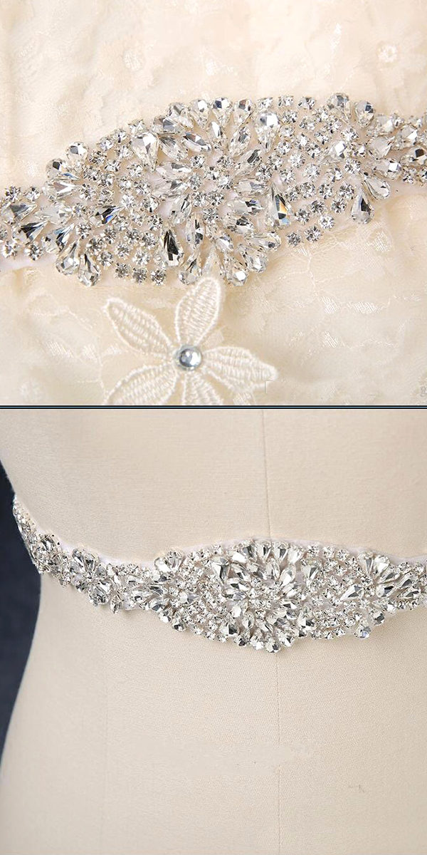 crystal beaded wedding sash sexy women's bridal accessories