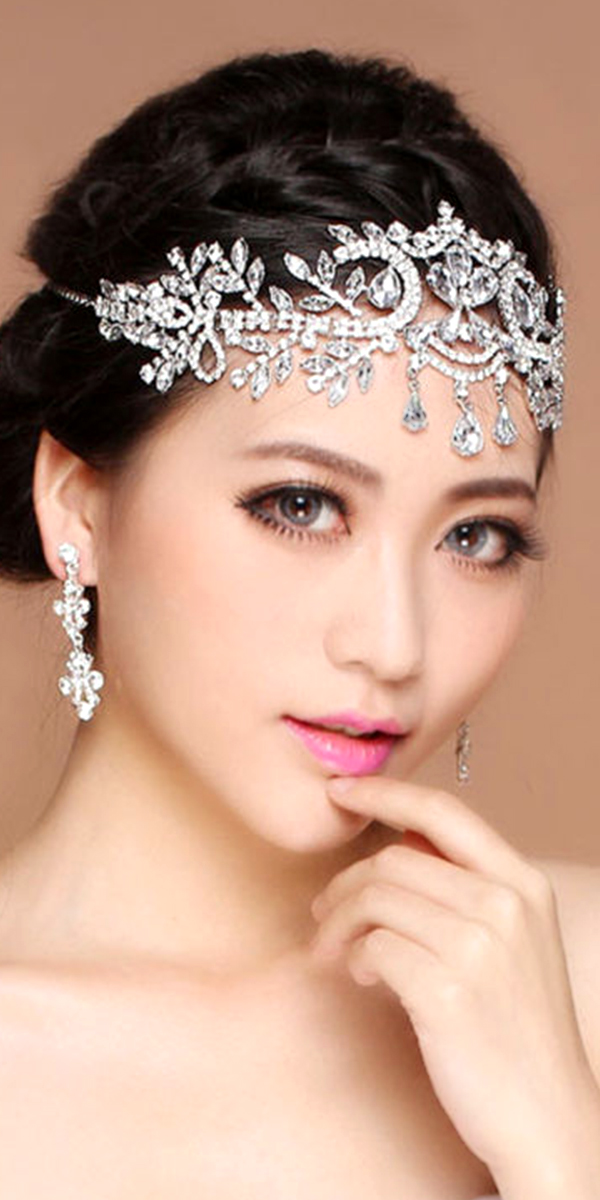 crystal rhinestone headpiece sexy women's bridal accessories wedding day