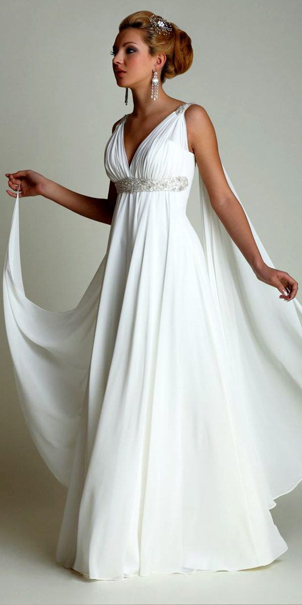 greek style chiffon wedding dress sexy women's bridal gown cheap