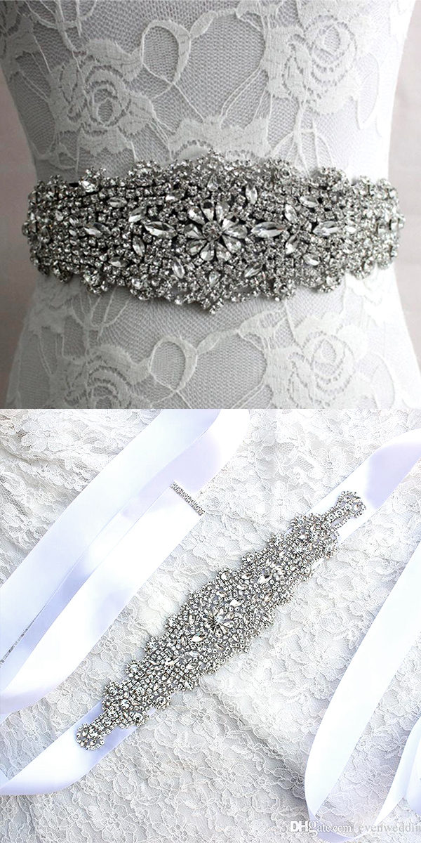handmade beaded crystal wedding sash sexy women's bridal accessories