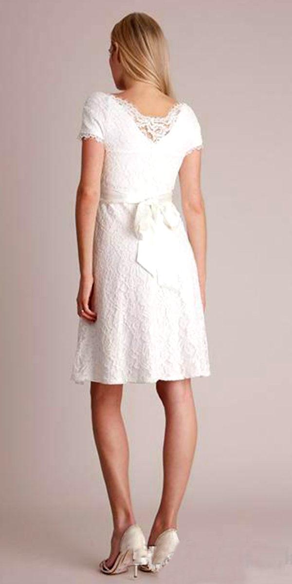 knee length empire waist maternity bridal gown sexy women's wedding dresses