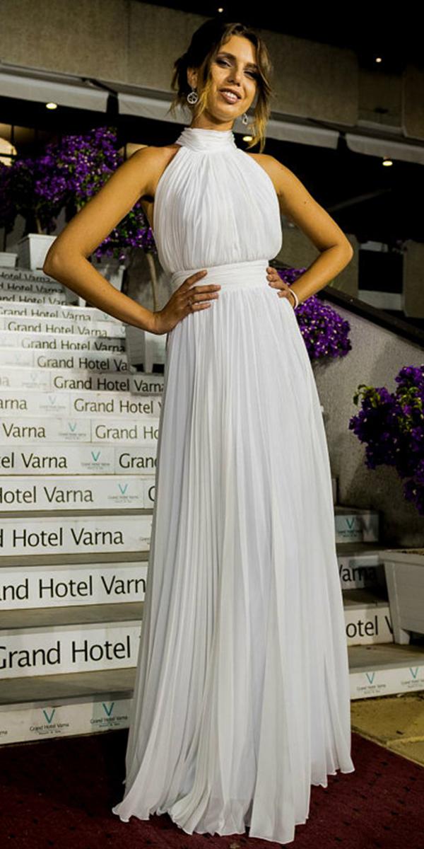 ruched chiffon wedding dress sexy women's bridal gowns cheap