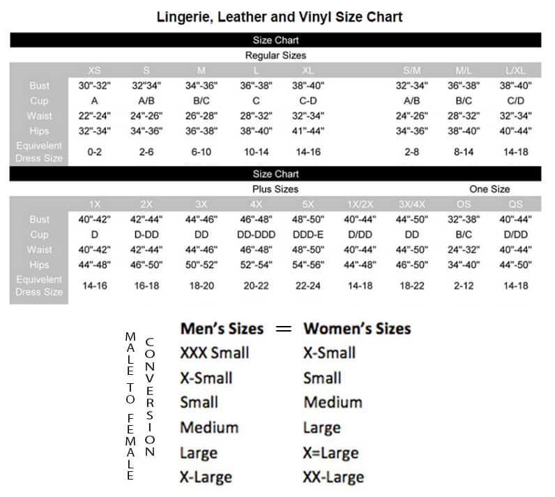 elegant moments size chart