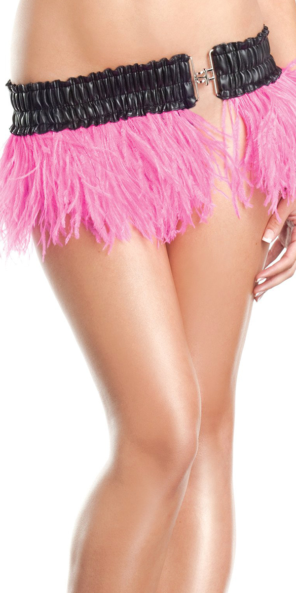 ostrich feather skirt party costumes hot pink