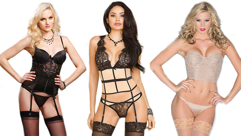 types of lingerie bustiers