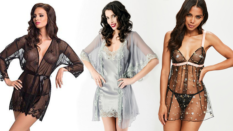 types of lingerie négligée