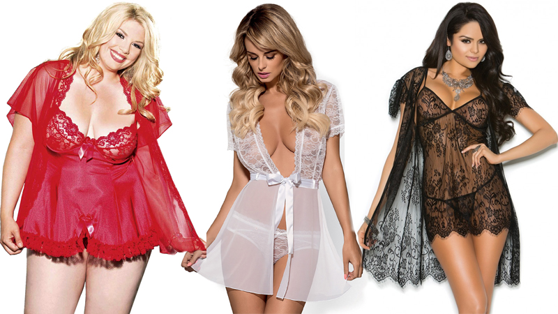 types of lingerie peignoir