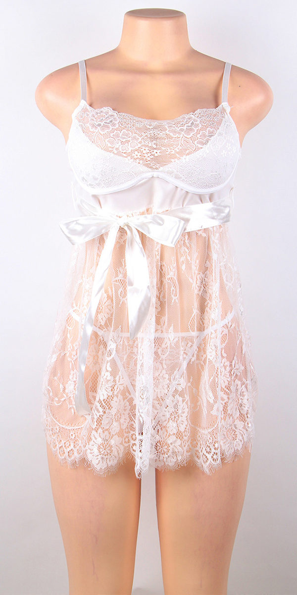 fly-away babydoll with g-string sexy women's lingerie