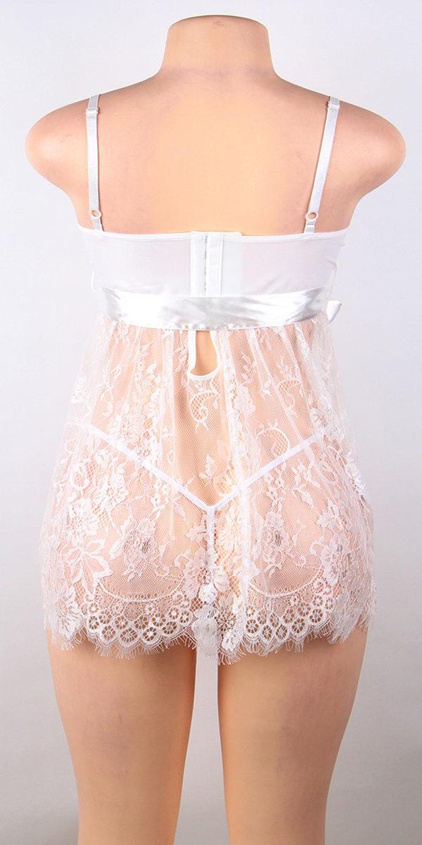plus size fly-away babydoll sexy women's lingerie curvy